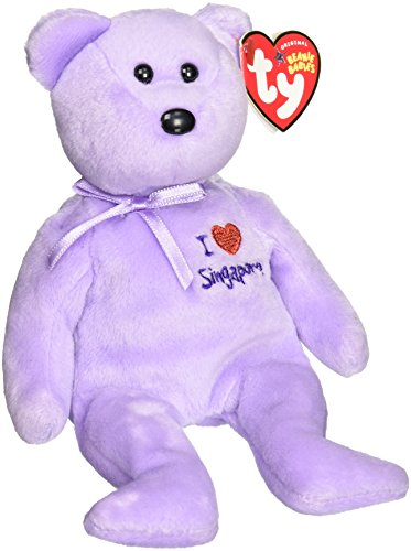Ty Beanie Babies Singapore - Bear (I Love Singapore, Asia-Pacific Exclusive)