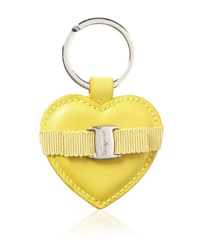 Salvatore Ferragamo Women's Heart Keychain, Yellow As You See