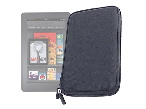 DURAGADGET Black EVA Water Resistant Hard Case/Cover For New 2011 Amazon Kindle 4, Kindle Touch, Kindle Touch 3G, Kindle Fire & Kindle Fire 2 (Latest Generation, July 2012) And Kindle 3