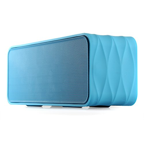 Polaris V8 Portable Bluetooth Wireless Speaker With Fm-Radio, Nfc, Aux Jack, Tf Card Slot, Voice Prompts, Led Display, Build-In Hq Mic For Hands Free Calls, Up To 10 Hours Play Time, 2000Mah Removable Rechargeable 18650 Li-Ion Battery. (Blue)