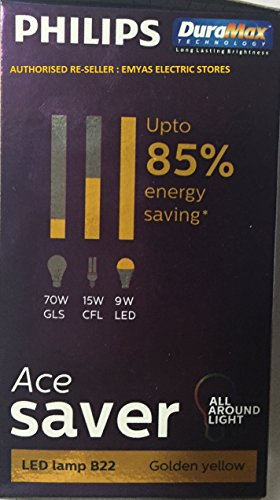 Philips-Ace-Saver-9.5W-LED-Bulb-(Warm-white-and-Golden-Yellow)