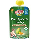 Earth's Best Organic Stage 2, Pear, Apricot & Barley, 4.2 Ounce Pouch (Pack of 12)