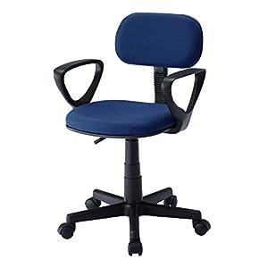 サンワサプライ オフィスチェア OAチェア 固定肘 ブルー SNC-A1ABL