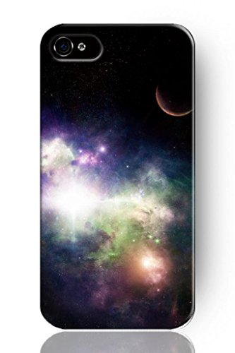 Sprawl New Fashion Design Hard Skin Case Cover Shell For Mobile Phone Apple Iphone 4 4S 4G--Purple Pink Nebula Galaxy Space front-1035579