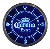 Corona Extra Crown Beer Bar Neon Sign LED Wall Clock