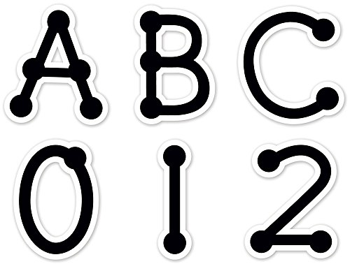 Creative Teaching Press Uppercase Letter Stickers, Black Dot-to-Dot (4632) - 1