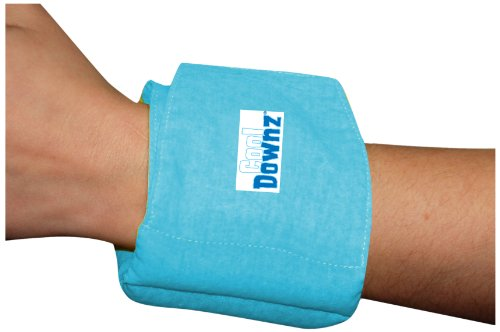 Cool Downz Cooling Wrist Wrap, One Size, Neon Blue