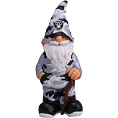 Oakland Raiders NFL Camouflage Garden Gnome by Forever Collectibles