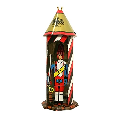 Alexander Taron Home Decoration Collectible Tin Ornament – Guard House – 3″H x 1.25″W x 1.25″D