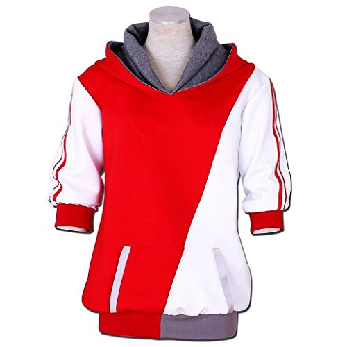 [Trainer Orange Cosplay Costume Hoodie Hooded Jacket Coat Sweater Suit] (Spawn Costume For Adults)