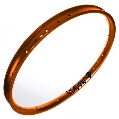 The Shadow Conspiracy Orbis BMX Bike Rims – October Orange Powder Coat Finish