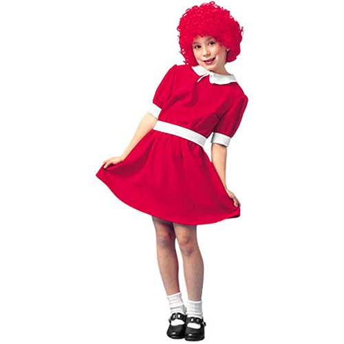 Kid's Red Orphan Costume (Size:Medium 8-10)