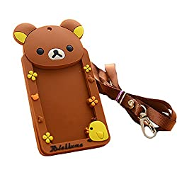 2PCS Cute Silicone ID Card Holder Badge Card Case, Bear Computers, Electronics, Office Supplies, Computing