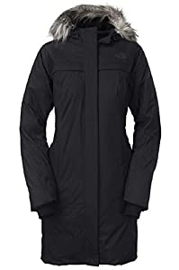 The North Face Womens Arctic Parka Down Jacket (Black, X-Large)