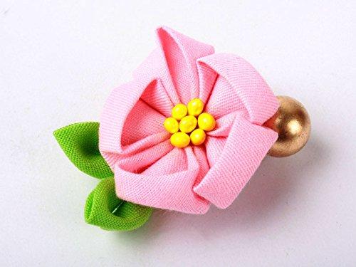 和風 花柄 ヘアピン 和装 髪飾り#薄ピンク