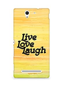 Amez Live Love Laugh Back Cover For Sony Xperia C3 D2502