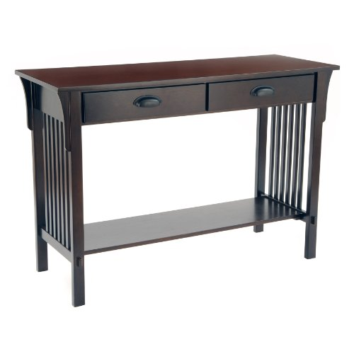 Cheap New – Mission Sofa/Console Table – Espresso by Bay Shore Collection (F68404)