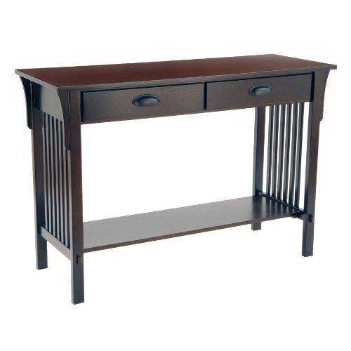 Cheap New – Mission Sofa/Console Table – Espresso by Bay Shore Collection (F68404)