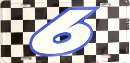 Mark Martin NASCAR #6 Racing Checkered Flag Novelty Vanity Metal License Plate Tag... by Pride Plates