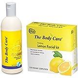 The Body Care Lemon Facial Kit And Lemon Cleansing Mik 400ml