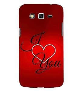 I Love You 3D Hard Polycarbonate Designer Back Case Cover for Samsung Galaxy Grand 2 :: Samsung Galaxy Grand 2 G7105 :: Samsung Galaxy Grand 2 G7102