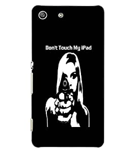SONY XPERIA M5 DUAL DON'T TOUCH MY IPAD Back Cover by PRINTSWAG