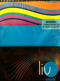 Liv Crayola Denim Ripple Designer Pack Includes 1 Pattern Set and 1 Solid Blue Set