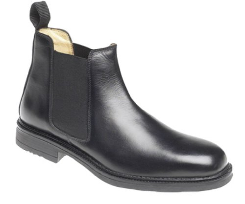 Mens Roamers Leather Chelsea Boots Cushioned lining Black size 9