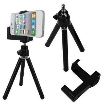 Best Price Mini Adjustable Tripod+camera Holder for Iphone 4 5 and Other Cellphone by Mango Natural