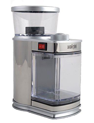 la-cafetiere-electric-coffee-bean-grinder-silver