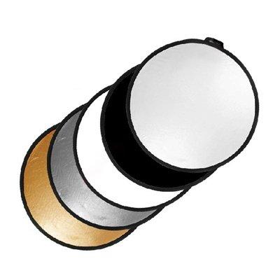 TARION 撮影用 丸レフ板 折りたたみ可能 5色対応 金、銀、白、黒、半透明 直径60cm TARION製拭き布付
