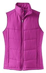 Port Authority L709 Ladies Puffy Vest - Bright Berry/Bermuda Purple - S