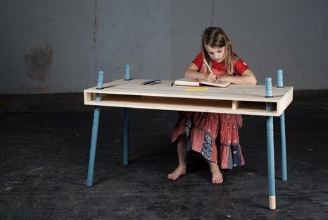 blau Fichte CASPAR von perludi Schreibtisch ab 3 Jahre – Erwachenser jetzt bestellen