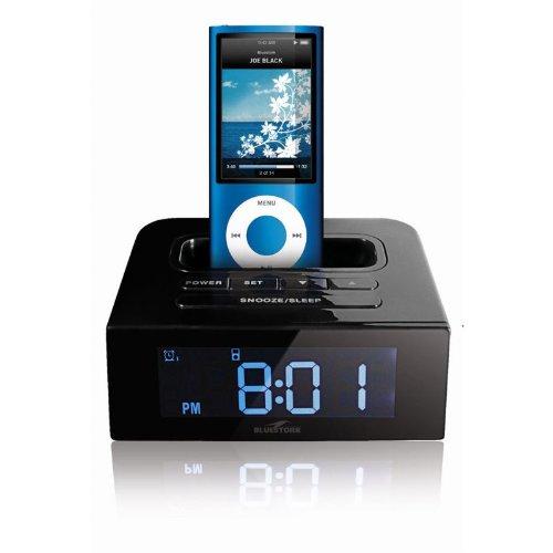 Radio réveil avec dock pour iPod (2 alarmes + synchro) BS_GO_BLACK