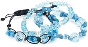 """Kenneth Cole New York """"Item Bracelets"""" Blue Cherry Beads Bracelets"""
