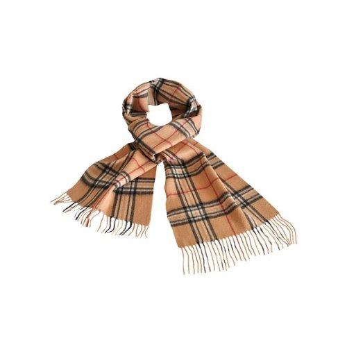 938b1791830 Echarpe tartan Camel 100% laine - Homme   Femme ~ Chapeaux et bonnets