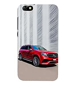 Luxury Red Car 3D Hard Polycarbonate Designer Back Case Cover for Huawei Honor 4X :: Huawei Glory Play 4X