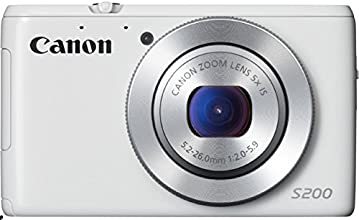 Canon PowerShot S200 Digitalkamera (10,1 Megapixel, 5-fach opt. Zoom, 7,5 cm (3 Zoll) LCD-Display, Full HD, GPS) weiß