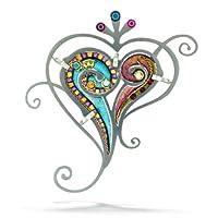 Paisley Love Heart Pin