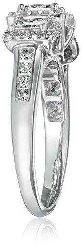 14k-White-Gold-Diamond-3-Stone-Princess-Halo-Frame-Engagement-Ring-1-12cttw-H-I-Color-I1-I2-Clarity-Size-7