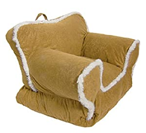 Cute Toddler Chair in Sand Dune Suede. Low to the Ground for Easy Access for Babies, Toddlers,and Little Ones. Great Seat, Light Weight and Easy to Carry. All Little Kids Will Love This Chair! from Comfort Research