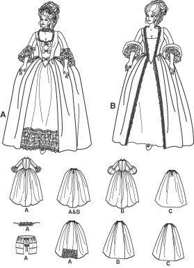 Шаблон для шитья Simplicity 4092 Sew Pattern Misses' 18th Century Costume SIZE 6-12