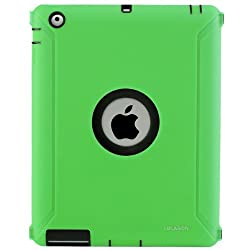 i-Blason ArmorBox Series 2 Layer Protection Case for Apple iPad 2/3/4 (iPad3ArmorBoxCase-Green)