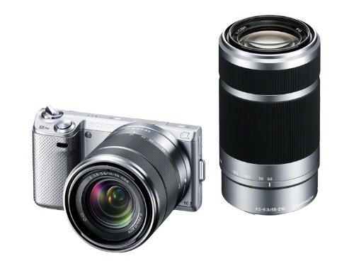 SONY デジタル一眼カメラ α NEX-5N ダブルズームレンズキット シルバー NEX-5NY/S