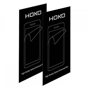 HOKO® Sony ZR Screen Protector, [HD Clear] [Three Layer] [PET Screen Guard Not Tempered Glass] [Rainbow free] Screen Guard for Sony Xperia ZR - Pack of 2