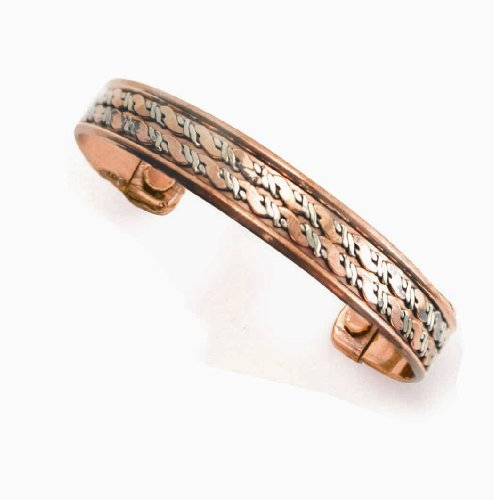 Smooth Copper & Brass Twist - Copper Bracelet With Magnets - From India
