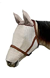 Kensington KPP Natural Look Catch Fly Mask with Nose/Ears, Grey, Medium