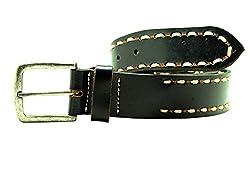 La Palma Black Leather Belts N.32086