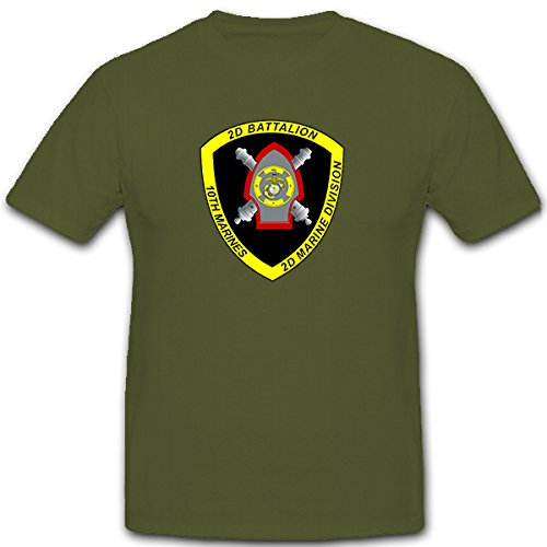 2-nd-battalion-10th-marines-us-united-states-artilleria-escudo-nadadores-camiseta-12142-verde-oliva-
