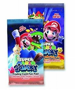 2- Super Mario Galaxy Trading Card Booster Pack - 1